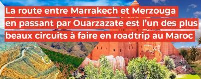marrakech, merzouga, ouarzazate, plus, beaux, circuit, faire, roadtrip, maroc