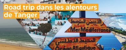 road, trip, alentours, tanger, maroc