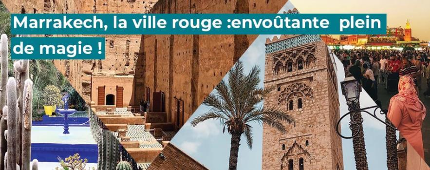 marrakech ville rouge maroc