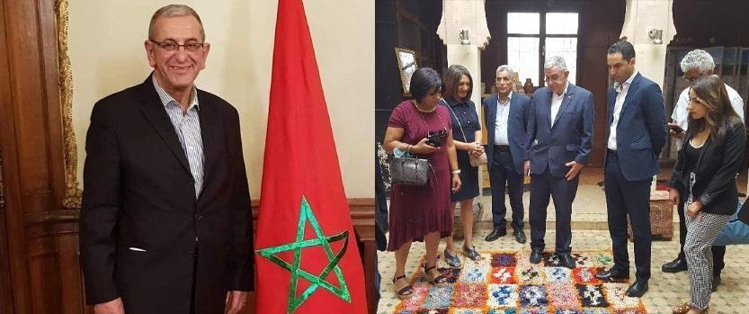 cpt al haouz association amitie maroc israel en discussion pour faire decoller le tourisme dans la province
