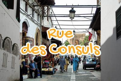 rue, des, consuls, rabat, maroc
