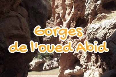 gorges, de, oued, el, abib, beni, mellal, maroc