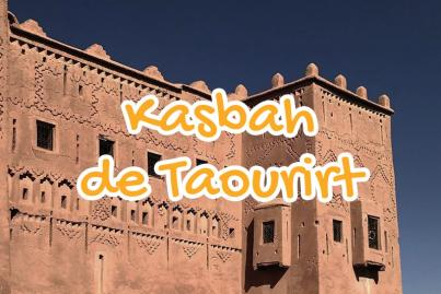 kasbah, de, taourirt, ouarzazate, maroc