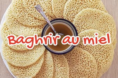 Baghrir with honey