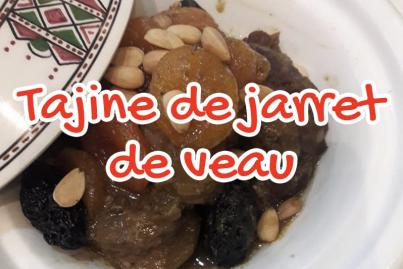 Veal shank tagine with caramelized prunes