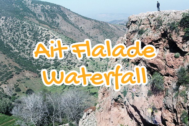 ait, flalade, waterfall, azilal, morocco